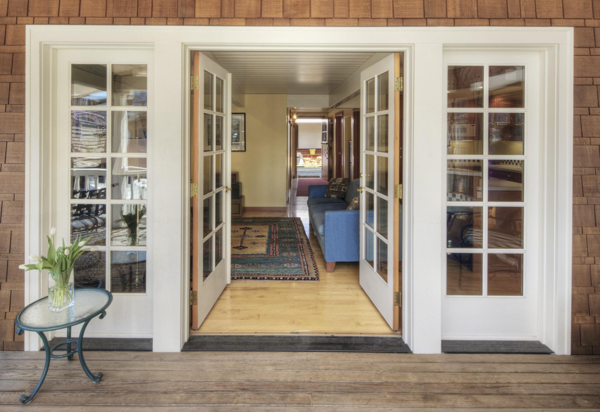 54476,Glass doors on wooden patio